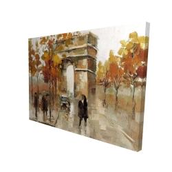 Canvas 36 x 48 - 3D - Arc de triomphe in autumn