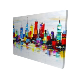 Canvas 36 x 48 - 3D - Abstract and colorful city