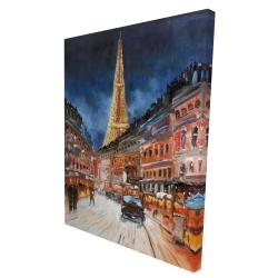 Canvas 36 x 48 - 3D - Illuminated paris