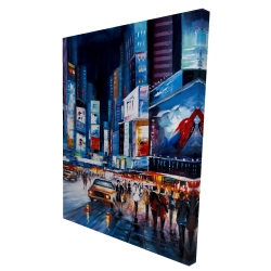 Canvas 36 x 48 - 3D - Times square perspective