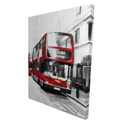 Canvas 36 x 48 - 3D - Red bus londoner
