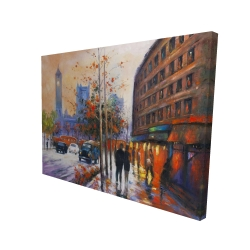 Canvas 36 x 48 - 3D - City by fall
