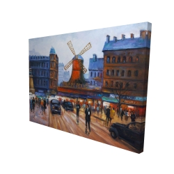 Canvas 36 x 48 - 3D - Street scene to moulin rouge