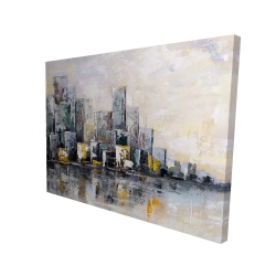 Canvas 36 x 48 - 3D - Abstract cityscape in the morning