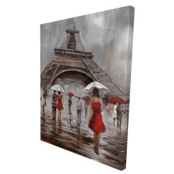 Canvas 36 x 48 - 3D - Near the eiffel tower