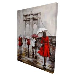 Canvas 36 x 48 - 3D - Walk on the brooklyn bridge