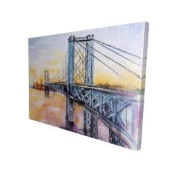 Canvas 36 x 48 - 3D - Abstract brooklyn bridge