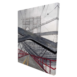 Canvas 36 x 48 - 3D - Under the brooklyn bridge