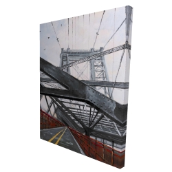 Canvas 36 x 48 - 3D - Bridge architecture