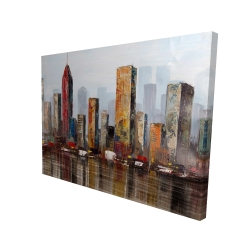 Canvas 36 x 48 - 3D - Rust looking city
