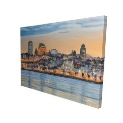 Canvas 36 x 48 - 3D - Skyline of quebec city