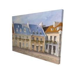 Canvas 36 x 48 - 3D - Old quebec city