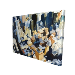 Canvas 36 x 48 - 3D - Manhattan view of the empire state building