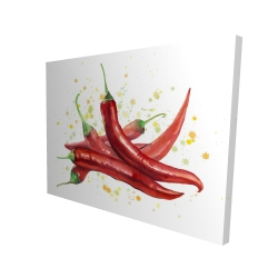 Canvas 36 x 48 - 3D - Red hot peppers