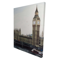 Canvas 36 x 48 - 3D - Big ben clock elizabeth tower in london