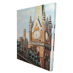 Canvas 36 x 48 - 3D - St-pancras station in london