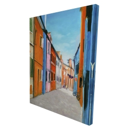 Canvas 36 x 48 - 3D - Colorful houses in italy