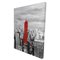 Canvas 36 x 48 - 3D - Empire state building of new york