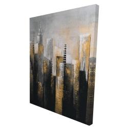 Canvas 36 x 48 - 3D - Abstract gold skyscraper