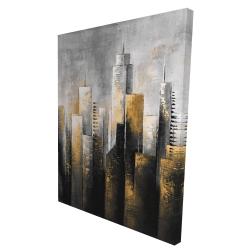 Canvas 36 x 48 - 3D - Abstract skyline