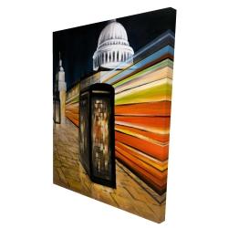 Canvas 36 x 48 - 3D - Fast london bus