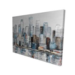 Canvas 36 x 48 - 3D - Abstract urban skyline