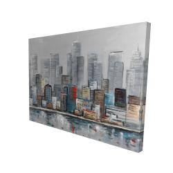 Canvas 36 x 48 - 3D - Abstract city skyline