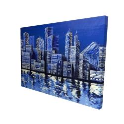 Canvas 36 x 48 - 3D - Blue skyline