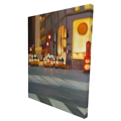 Canvas 36 x 48 - 3D - Blurred view of new york