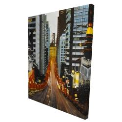 Canvas 36 x 48 - 3D - San francisco by night