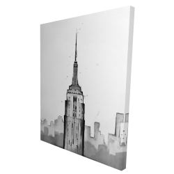 Canvas 36 x 48 - 3D - Empire state building