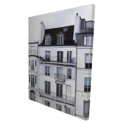 Canvas 36 x 48 - 3D - Buildings along the seine river