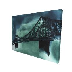 Canvas 36 x 48 - 3D - Montreal jacques-cartier bridge