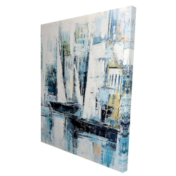 Canvas 36 x 48 - 3D - Industrial style boats