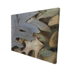 Canvas 48 x 60 - 3D - Autumn leaves