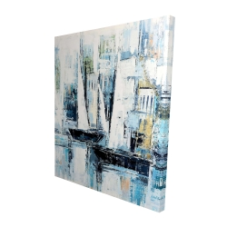Canvas 48 x 60 - 3D - Industrial style boats