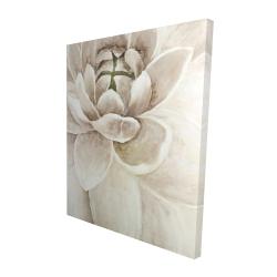 Canvas 48 x 60 - 3D - Delicate chrysanthemum