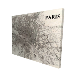 Canvas 48 x 60 - 3D - Paris 1