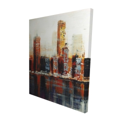 Canvas 48 x 60 - 3D - Abstract red cityscape