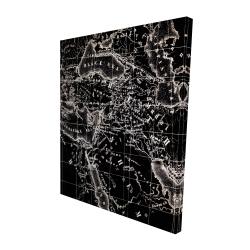 Canvas 48 x 60 - 3D - Old maritime maps