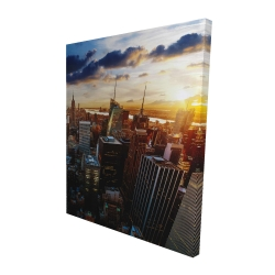Canvas 48 x 60 - 3D - City of new york by dawn