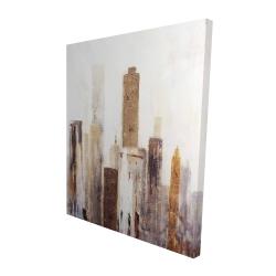 Canvas 48 x 60 - 3D - Abstract earthy tones city