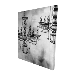 Canvas 48 x 60 - 3D - Two crystal chandeliers 2