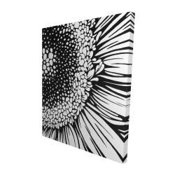 Canvas 48 x 60 - 3D - Gerbera flower