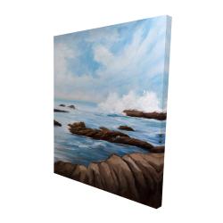 Canvas 48 x 60 - 3D - Seaside storm