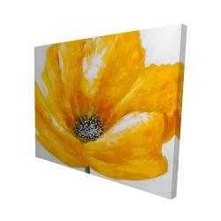 Canvas 48 x 60 - 3D - Beautiful yellow flower