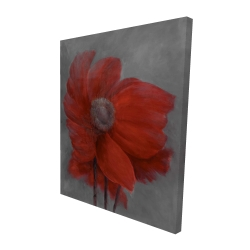 Canvas 48 x 60 - 3D - Red flower in the wind