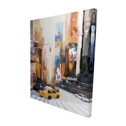 Canvas 48 x 60 - 3D - City early in the morning