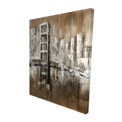 Canvas 48 x 60 - 3D - Aged finish golden gate
