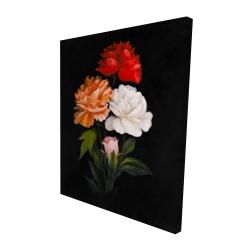 Canvas 48 x 60 - 3D - Three beautiful rose flowers